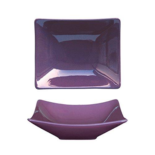 Bruno Evrard Assiette Creuse Violet en céramique 19x16cm - Lot de 6 - MATINE