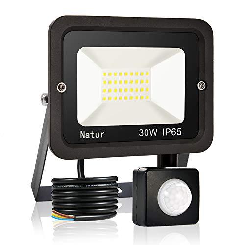 30W Foco led exterior con sensor movimiento de alto brillo 6000K Proyector...
