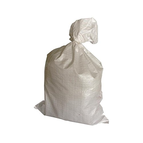 25 Stück PP-Gewebesack- Sandsack weiß 400x600mm