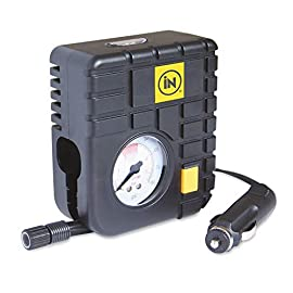 LAQI Per Auto Portatile Compressore dAria della Pompa di plastica Mini 12V della Pressione dei Pneumatici Gonfiatore Pompa con manometro 300 psi