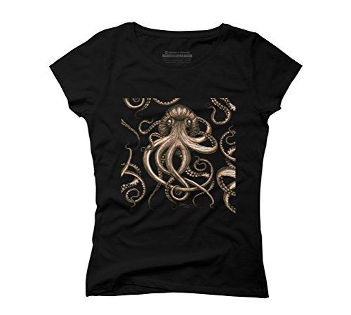 Bronze Kraken Women's Graphic T-Shirt - Design By Humans Black