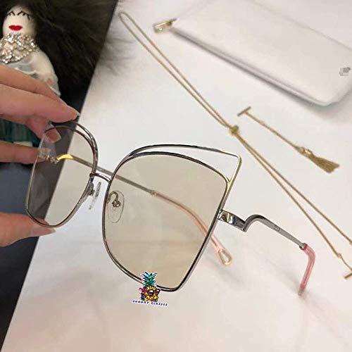 Aviator Sunglasses Metal Frame Flat Mirrored Lens for CHL 2125S-yellow