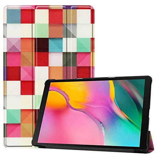 jfhrfged Dreifach gefalteter Standplatz-Ledertasche für Samsung Galaxy Tab A 10.1 (2019) SM-T515 / SM-T510 (F) (Galaxy Tab Skinomi Tablet)