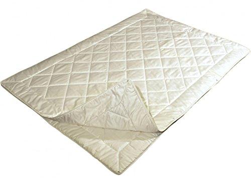 Garanta 4-Jahreszeiten Bettdecke 155 x 220 cm - Vier Jahreszeiten Cotton Baumwoll Decke 625 g / 1000 g - Bezug feiner Edelbatist (100% Baumwolle)