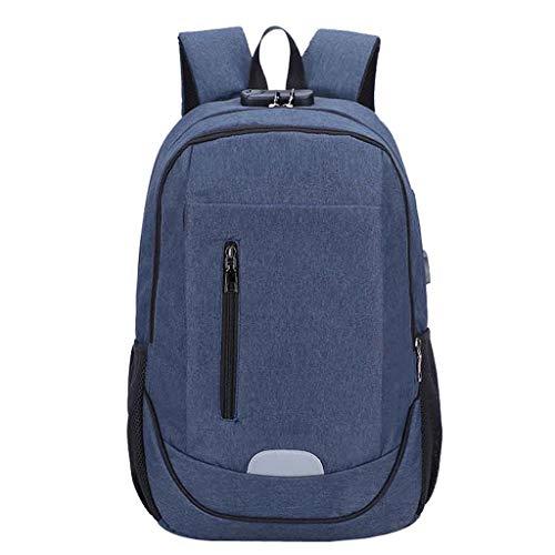 LMRYJQ Laptop Tasche Backpack Unisex-Business-USB-Laderucksack mit großem Fassungsvermögen