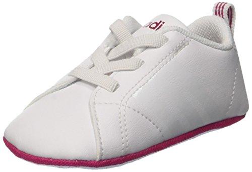 adidas Unisex Baby Vs Advantage Crib Krabbel-& Hausschuhe, Mehrfarbig (Ftwr White/Ftwr White/Bold Pink), 17 EU (Adidas Tops-wettbewerb Top)