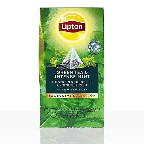 Lipton Tee Exclusive Selection Green Tea & Intense Mint 6 x 25 Beutel á 2g - Lipton Tee-orange