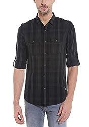 Spykar Mens Cotton Slim Fit Casual Shirt (Msh-01Ag-Es-050_Black_X-Large)