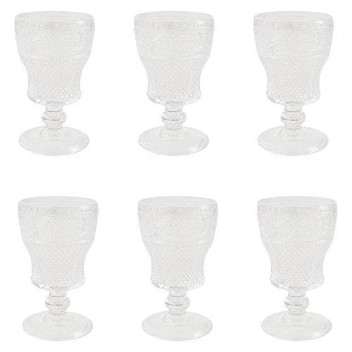 Villa d 'Este Home Tivoli Prisma Set 6Weingläser Wein, Glas, transparent, 8x 8x 14cm