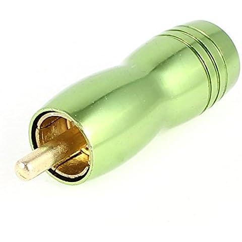 Tipo RCA Phono Male Plug Audio Soldadura Conector Verde