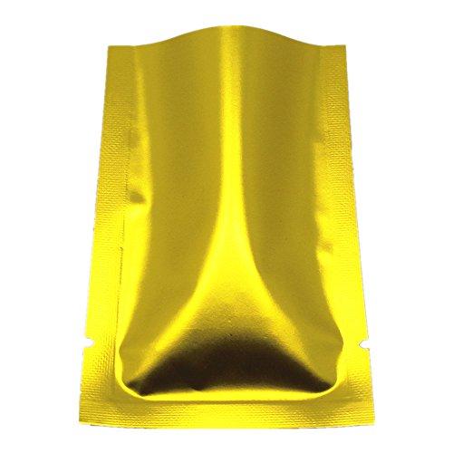 200 Stück 7x10cm Golden Farbe Mattglasbirne Alufolie Lebensmittel Lagerung Taschen Heißsiegel...