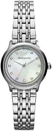 Emporio Armani Alpha Women's White Dial Stainless Steel Analog Watch - AR