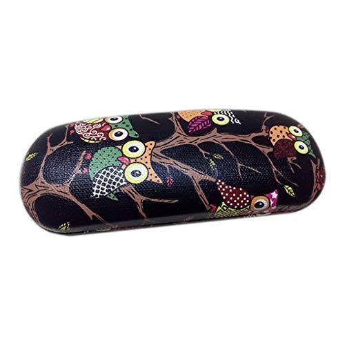 Vkospy Owl Tiermuster-Glas-Kasten-Kasten PU-Leder-Brillen Box Portable Folding Hard Case Brillen-Schutz-Kasten