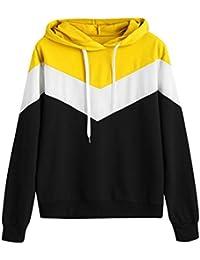 Chaquetas de Mujer ️EUZeo Mujer Manga Larga Chandal Sportswear Cortaviento con Capucha Camisetas Cárdigans Sueter de Mujer Invierno Abrigos de Mujer Ropa Deportiva