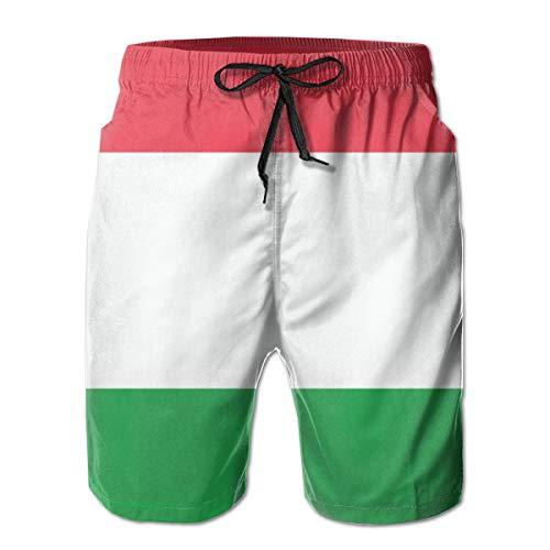 Bañador de Secado rápido con Bandera de Hungría para Hombre, con Bolsillos, Cintura Larga y elástica...