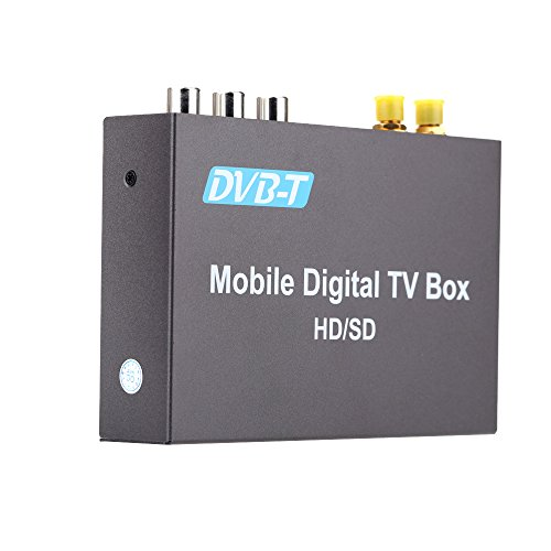 kkmoon DVB-T Mini Verschiedene-Kanal-Digital-TV-Box Analog TV-Tuner 240 km/h, High Speed Strong signal Receiver mit 2 Antennen