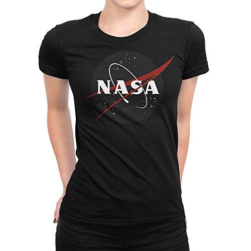 Vintage Retro Grunge NASA Logo Damen T-shirt L (Ringspun-baseball-t-shirt)