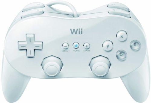 Nintendo Classic Controller Pro - Volante/mando (Gamepad, Wii, Hogar, Select, Start, Inalámbrico, RF, Color blanco)