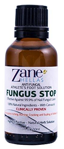 Fungus Stop. Los atletas de soluciones anti-hongos en los pies. Elimina el 99.9% de hongo. Alivia la picazón, ardor, agrietamiento, Escala. 1 oz - 30 ml
