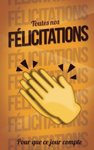 Toutes nos FELICITATIONS - Orange - Carte livre d'or: Taille M (12,7x20cm)