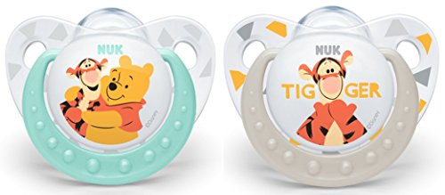 NUK Winnie the Pooh Silicone Soothers 2pk 0-6 Months (colour and design may vary)