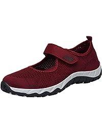 Zapatos planos de malla para mujer,Sonnena Mujeres de moda que vuelan los zapatos ligeros cómodos tejidos Zapatos casuales Zapatos de malla