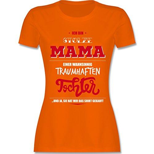 Muttertag - Ich bin stolze Mama einer wahnsinnig traumhaften Tochter - tailliertes  Premium T-Shirt