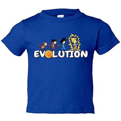 Camiseta niño Dragon Ball Bola De Dragón Evolution - Azul Royal, 5-6 años