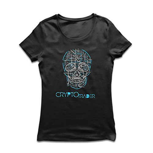 T Shirts for Women Skull CPU - Crypto Trader - Cryptocurrency Investors, Blockchain Icon
