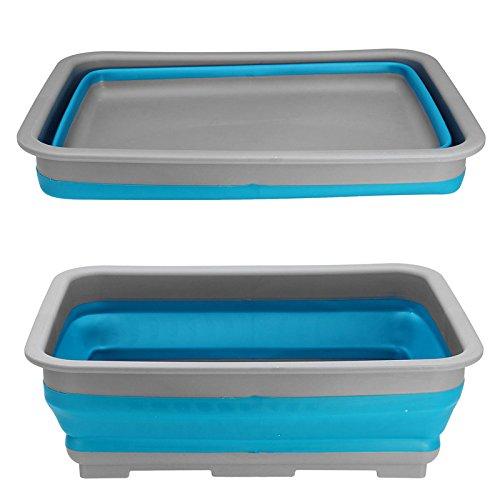 LaDicha 7L Faltung Silikon Wasser Waschbecken Faltbar Lagerung Hand Korb Picknick (Wohnwagen Lagerung)