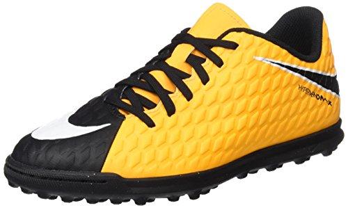 Nike Unisex-Kinder Jr. Hypervenomx Phade III TF Fußballschuhe, Orange (Laser Orange/Black/Black/Volt), 37.5 EU (Orange Nike-schuhe Für Kinder)