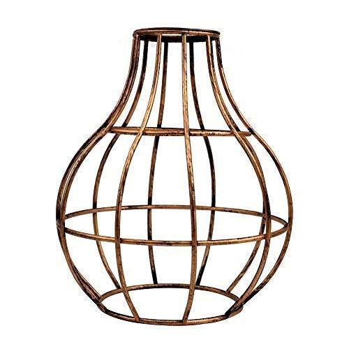 Rustic State Ampoule de plafond style vintage industriel pour cage de bar ou café, Fer, cuivré, Vase Cage, E27