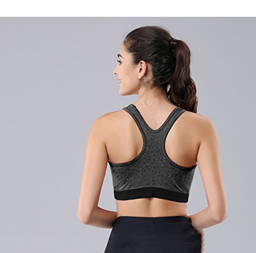 ny Fitness Back Respirant No Trace Soutien-gorge No Steel Ring Rassemblez Shock Sports Running Underwear Gray