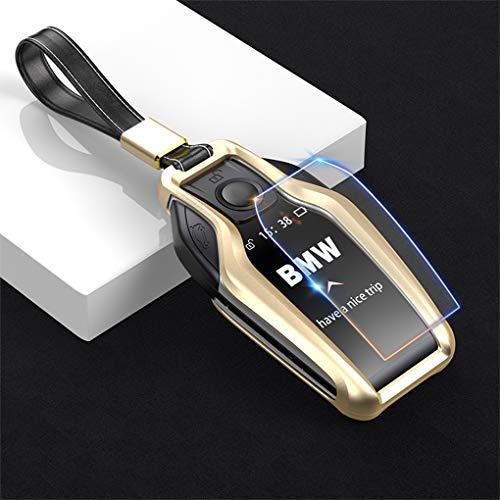WENWEN Key Chain Spezielle autoschlüssel Abdeckung Auto Fernbedienung Shell Legierung schlüssel Schutz Metall schlüsseloberteil Fernbedienung manschettenknöpfe (Farbe : A, größe : D)
