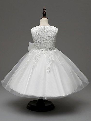 Baby Mädchen Kleid mit Schleife Taufkleid Blumenmädchen Prinzessin Hochzeit Kleid (Wird Wahr Kostüme Traum Ein)