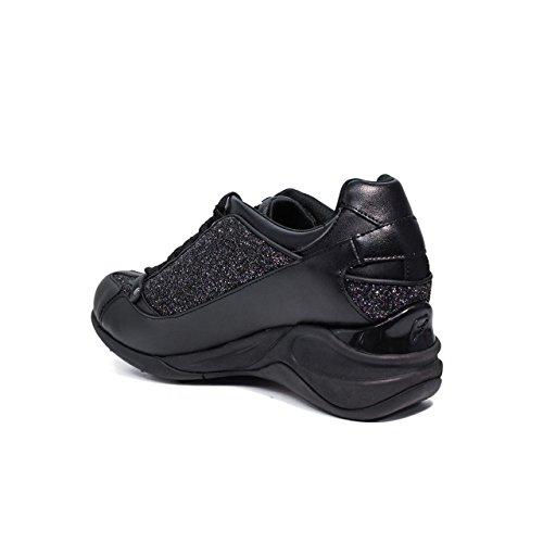 FORNARINA Chaussures femme baskets coincent PE17SE8922V000 BLACK Black