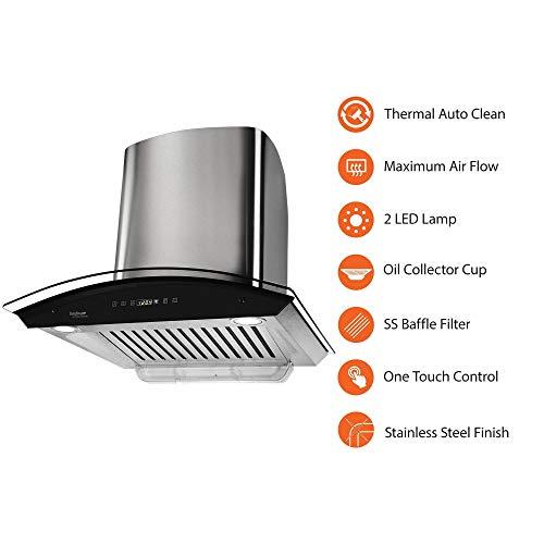 Hindware-60cm-1200-m3hr-Auto-Clean-Chimney-Nevio-60-1-Baffle-Filter-SteelGrey