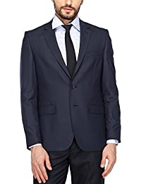 Raymond Mens Notched Lapel Solid Blazer