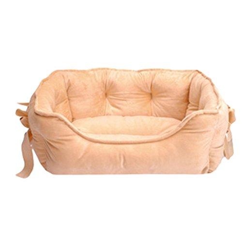 Lvrao animale domestico letto per gatto cane cucciolo divano morbido calda casette, ceste casa cani (cachi, 48 * 38 * 18cm)
