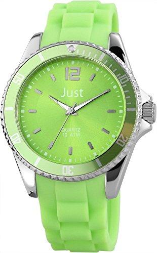 Just Watches 48-S3861-HGR - Orologio da polso da donna, cinturino in caucciù colore verde
