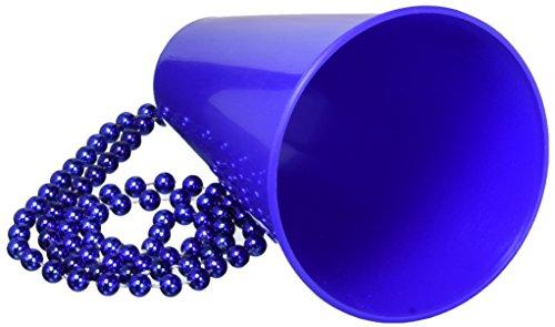 Beistle 207690 Perlen mit Megaphon Medallion - Blau