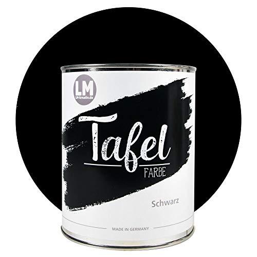 LM-Kreativ Tafelfarbe 1 Liter - Schwarz - partielle Wand-Farbe & Möbel-Farbe für Kinderzimmer, Büro oder Küche