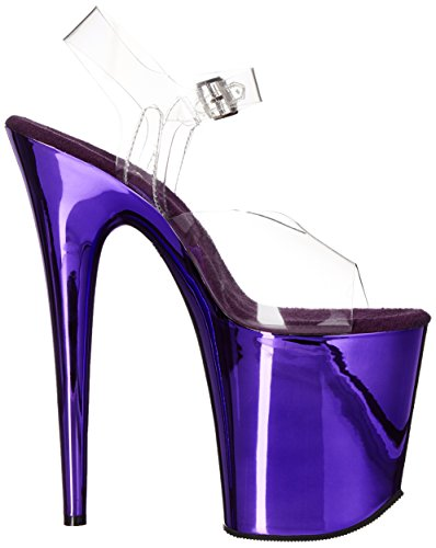 Pleaser FLAMINGO-808, Sandali donna Clr/Purple Chrome