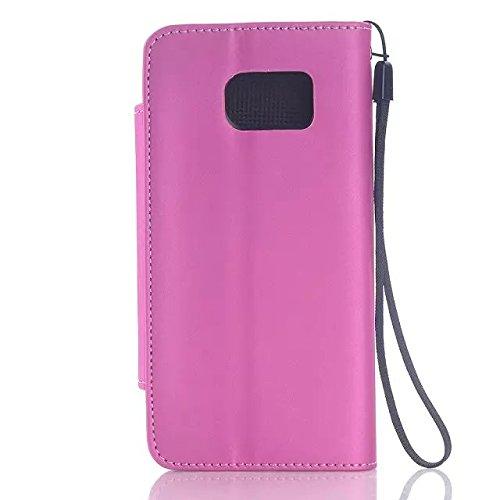 Samsung Galaxy S6 Case,feste Farbe Hellen Oberfläche Pu - Ledertasche Mit Hängenden Seil Stehen Für Samsung S6 ( Color : 4 , Size : Samsung S6 ) 1