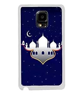 Fuson Designer Back Case Cover for Samsung Galaxy Note Edge :: Samsung Galaxy Note Edge N915Fy N915A N915T N915K/N915L/N915S N915G N915D (Mosque Darga WOrshipping Place Blue)
