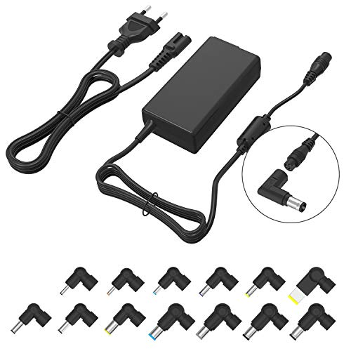 Chargeur Universel d'ordinateur Portable 70W Adaptateur Secteur Mince Cordon d'alimentation de Conseils Multiples Compatible avec Dell HP ASUS Lenovo Acer Toshiba Sony (Tension Automatique, 13tips)