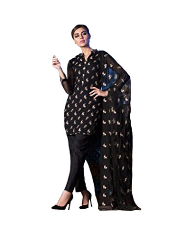 MADEESH Pakistani Suits for Women, Pure Cotton Satin with Embroidery Party Wear, Salwar Kameez Dress Material, Pakistani Concept Style Designer Suit for Women/Girls  available at amazon for Rs.1999