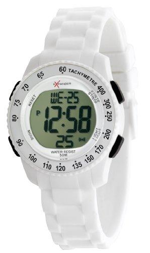 Sector - R3251572045 - Expander - Montre Mixte - Quartz Digital - Cadran Blanc - Bracelet Silicone Blanc