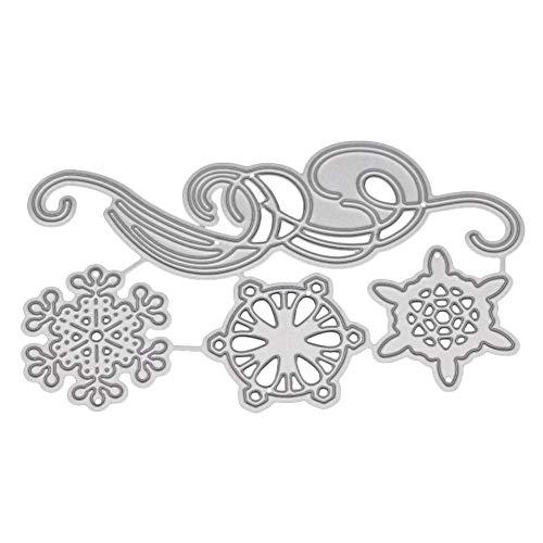 Presupuesto:Copo de nieve de Navidad diseño de corte de metal morir, encantador y hermoso.Hecho de material de acero al carbono duradero, reutilizable y fácil de usar.Perfecta herramienta de bricolaje para tarjetas de felicitación, invitaciones, álbu...