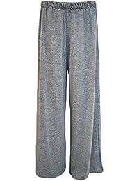 3531388207d tn-traders Ladies Plain Palazzo Wide Leg Flared Trouser Pants 8-26
